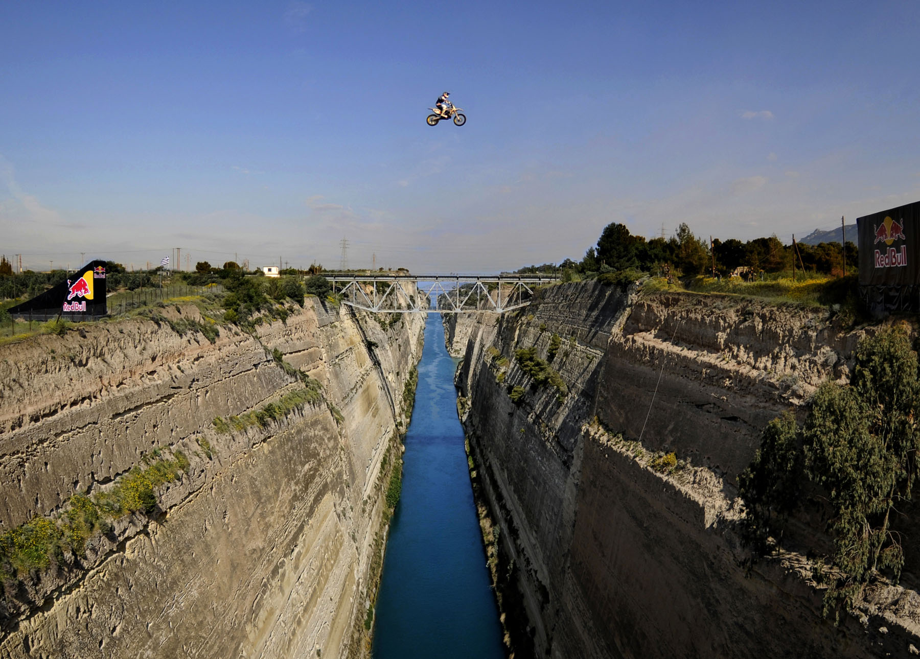 DC Moto Athlete, Robbie Maddison Jumps Over The Canal Of ...