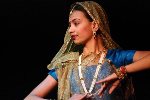 Kathak-dancer