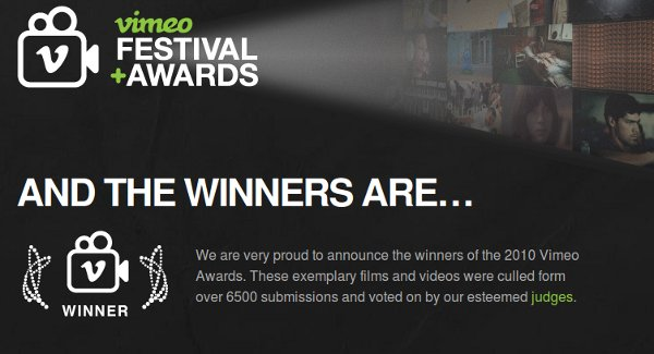 2010 Vimeo Awards Winners
