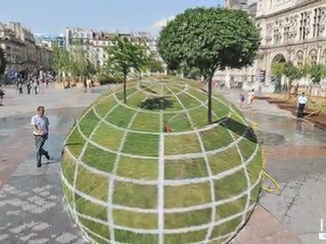 Francois Abelanet: qui croire optical illusion land art
