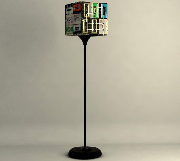 Designers Refurbish Cassette Tapes Into Lamps