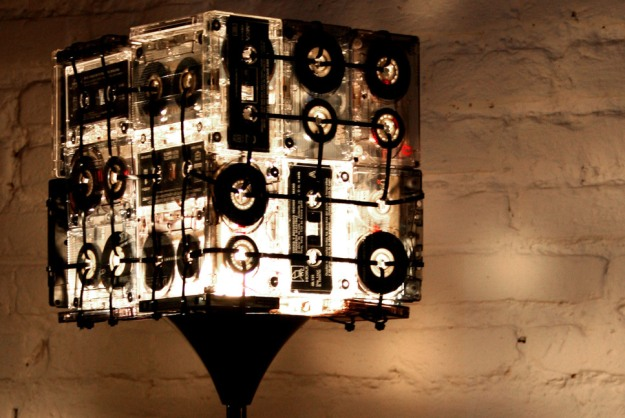 Designers Turn Old Tapes Into Lamps