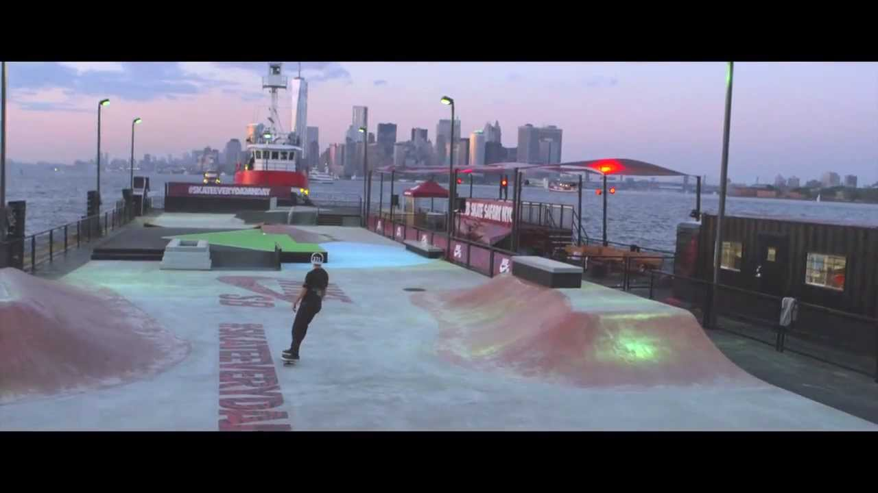 Nike SB Build Floating Skatepark in NYC