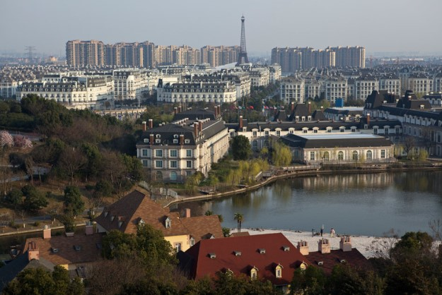 Overlooking Tianducheng and the French-themed village park