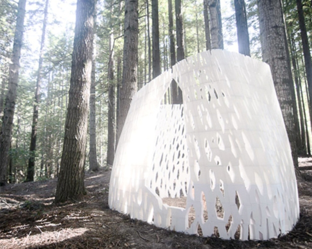Biodegradable Pavilion Dissolves Into The Earth Over Time