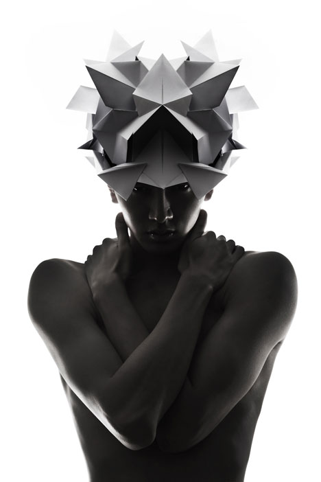 Origami-headgear-folded-to-resemble-mythological-creatures_dezeen_16