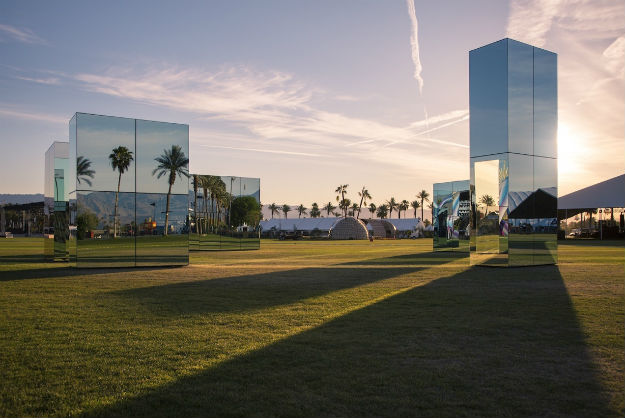 Coachella's Mirrored Blocks Put A Modern Twist On Stonehenge [Pics]