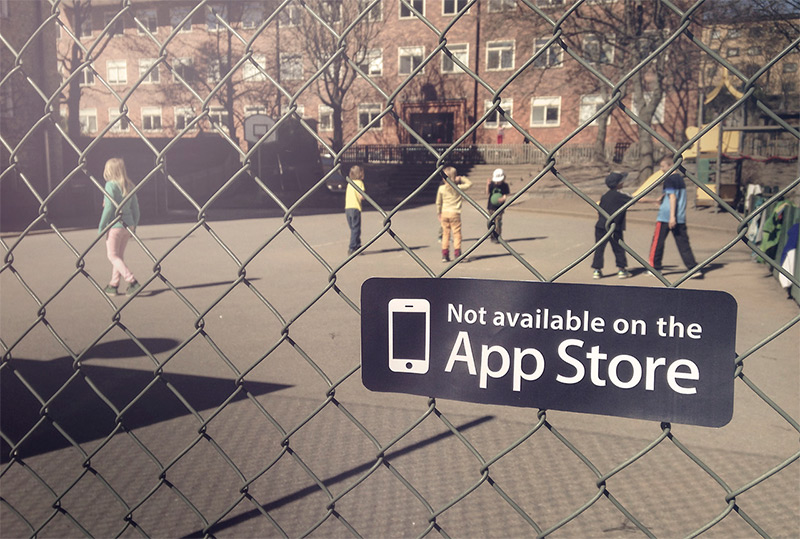 Not Available on the App Store Stickers Remind Us There Isnt an App for Everything stickers playgrounds kids humor app