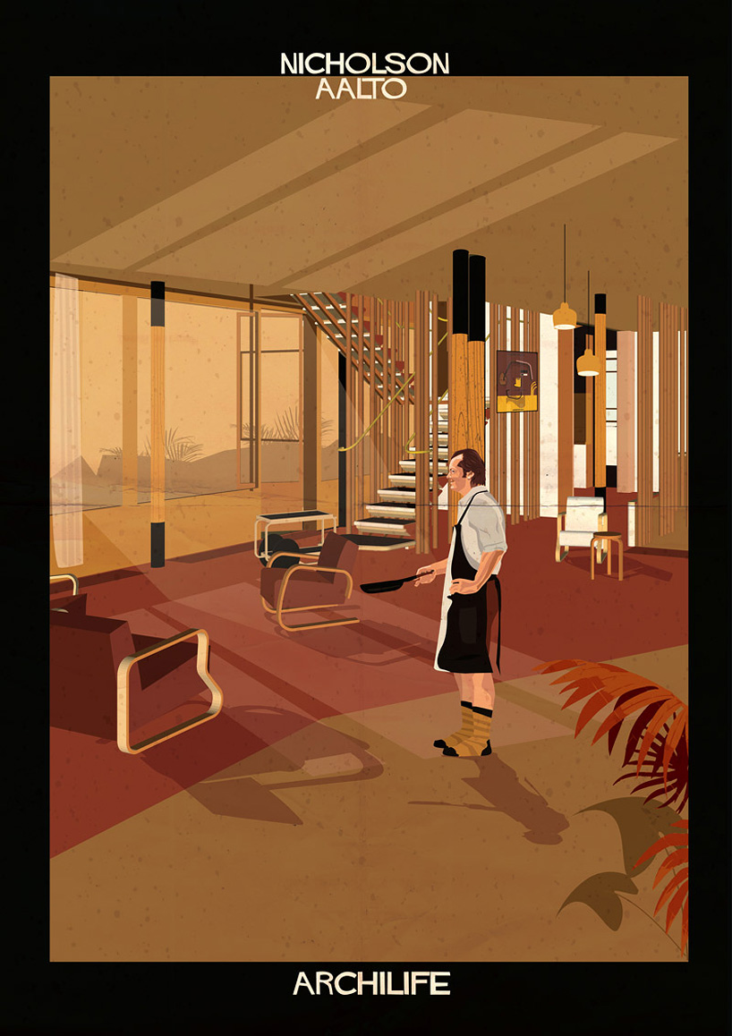 federico babina adds cinematic stars to architect-designed interiors