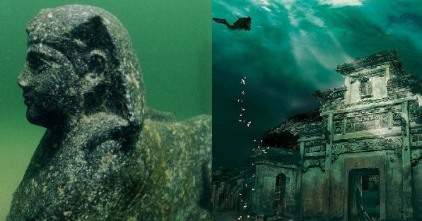 11-Rare-Photos-From-A-Sunken-Egyptian-City-Featured