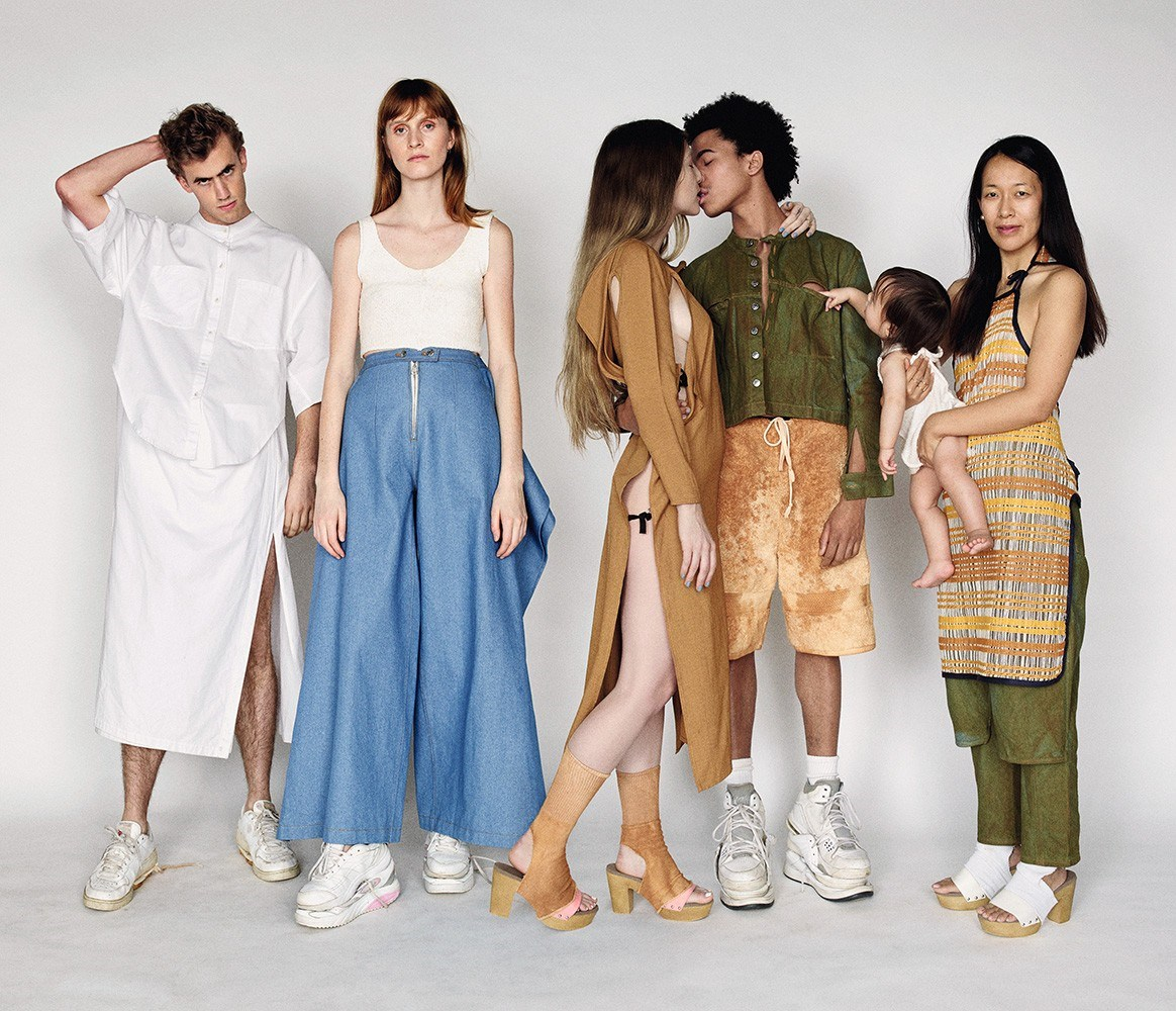 All clothes and accessories by Eckhaus Latta.