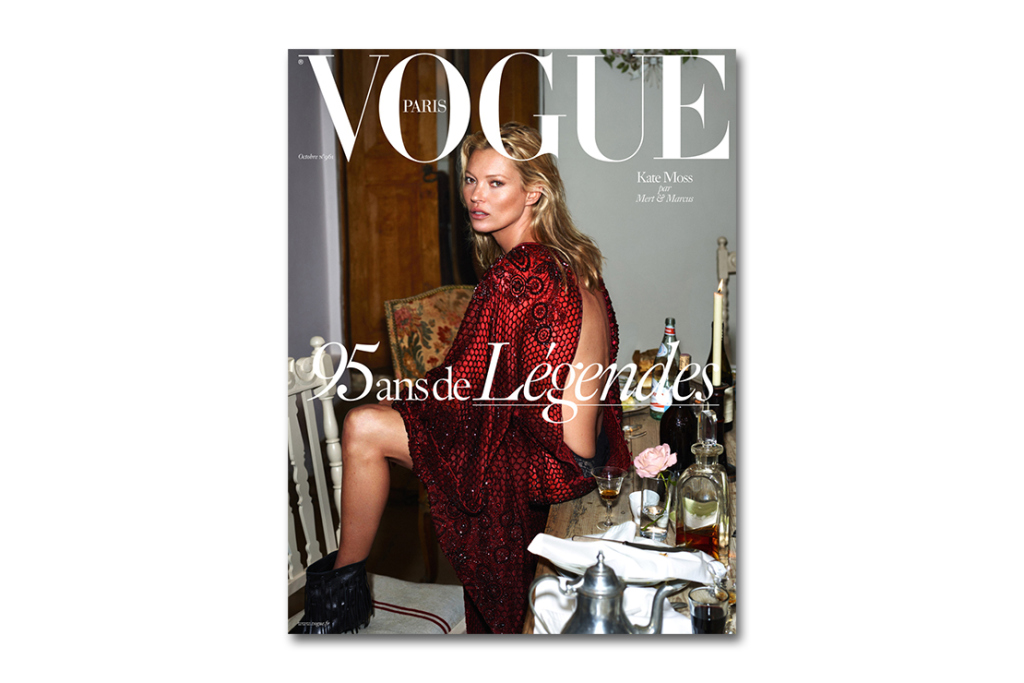 Kate Moss on the cover of Vogue Paris Oct. issue