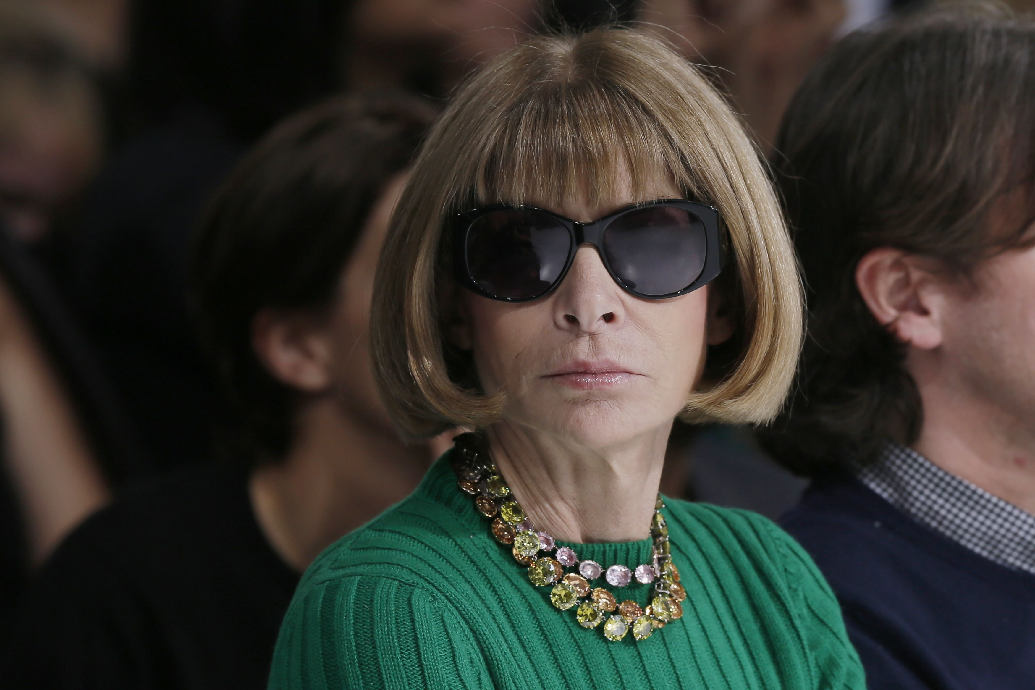 anna wintour green top reuter