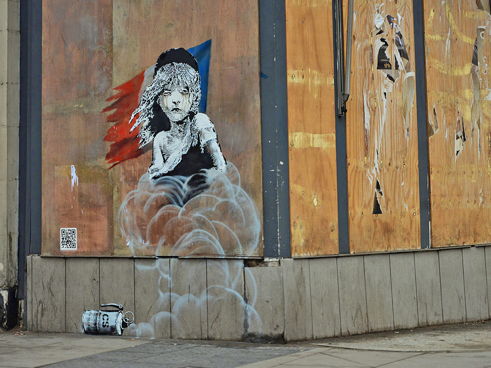banksy miserables inspired street art