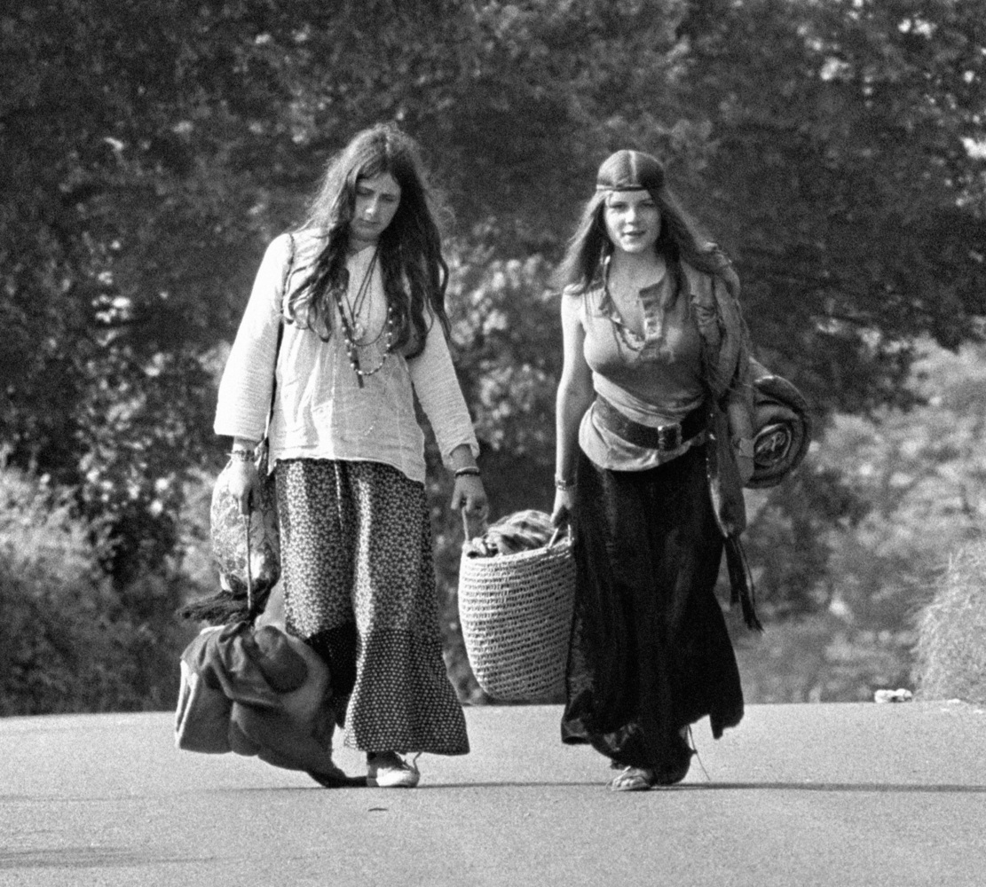 Hippie Fashion From 1960 And 1970