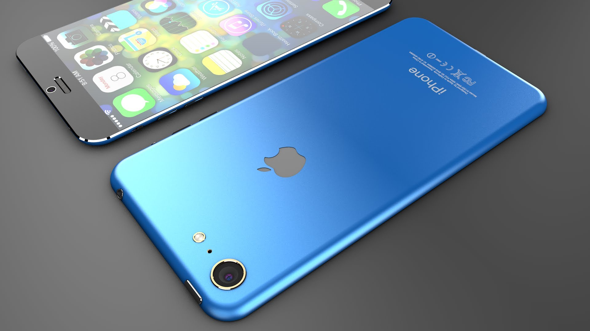 space blue iphone